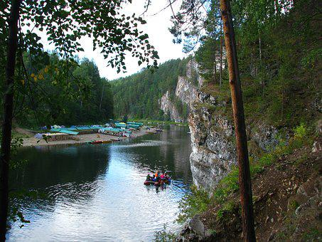 The Chusovaya River, Perm Krai, Spring, Sky, Russia