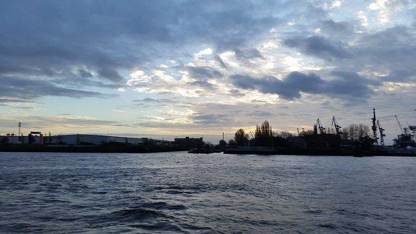 Port, Hamburg, Elbe, Hamburg Port, Port Of Hamburg