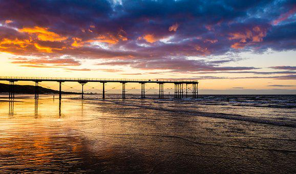 Pier, Saltburn, Saltburn By The Sea, Sunset