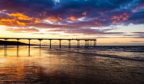 Pier, Saltburn, Saltburn By The Sea, Sunset