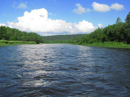 The River Usva, Perm Krai, Summer, Sky, Russia, Silence