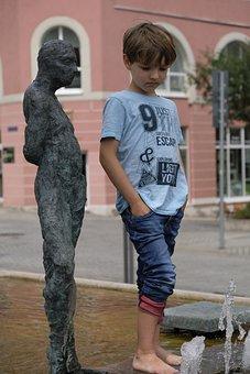 Child, Boy, Pose, Posing, Statue, Figure, Sculpture