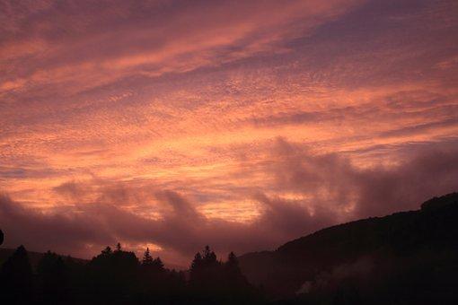 Sunrise, Sun, Morning, Clouds, Atmospheric, Sky