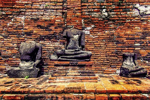 Statue, Brick, Ancient, Temple, Sculpture, Stone, Asia