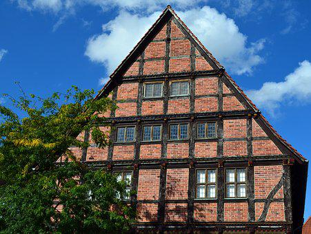 Truss, Building, Architecture, Old Town, Facade
