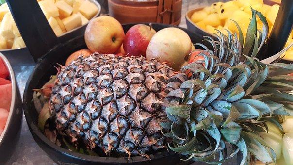 Pineapple, Fruits, Vitamin, Summer, Vegetarian, Exotic