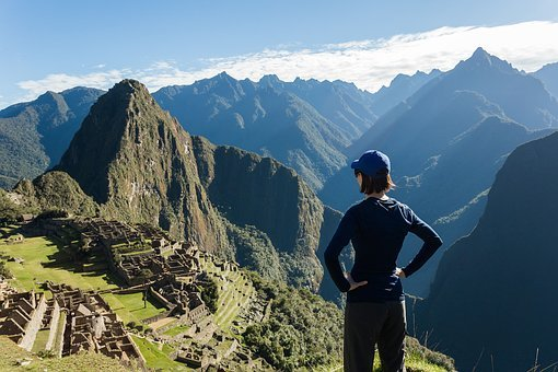 Peru, Mountain, Machu Picchu, Woman, Valley, Adventure