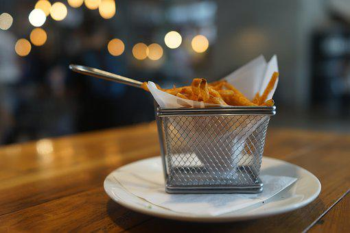 French Fries, Basket, Ambient Lights