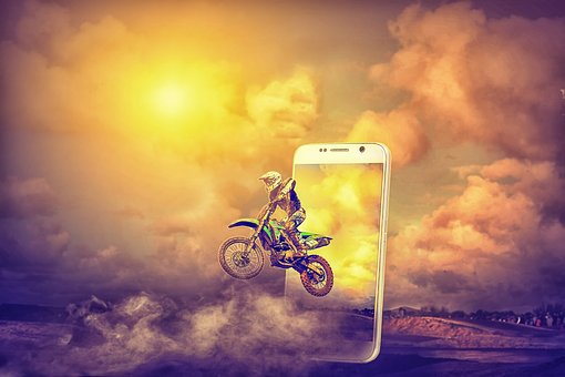 Pop Out Image, Mobile Pop Out, Bike Rider Pop Out