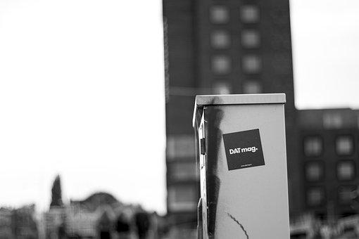 Power Box, Day, Bokeh, Grafiti, Spraypaint