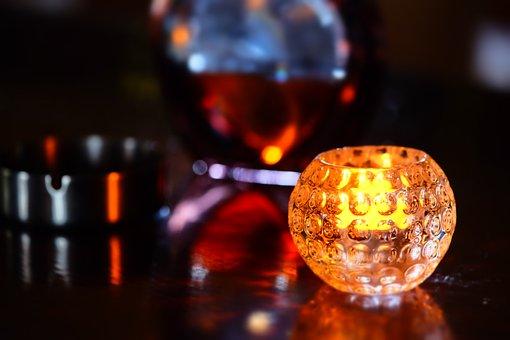 蠟 燭, Candlelit, Warm, Alcohol, Reflection, Glass