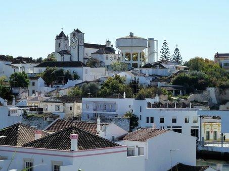 Panorama, View, Landscape, Tavira, Portugal, Cityscape