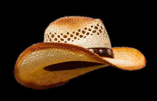 Hat, Clothing, Headwear, Cowboy Hat, Isolated, Hatband