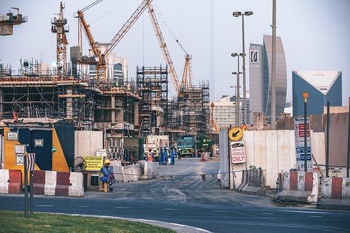 Concrete, Construction, Crane, Development, Dubai