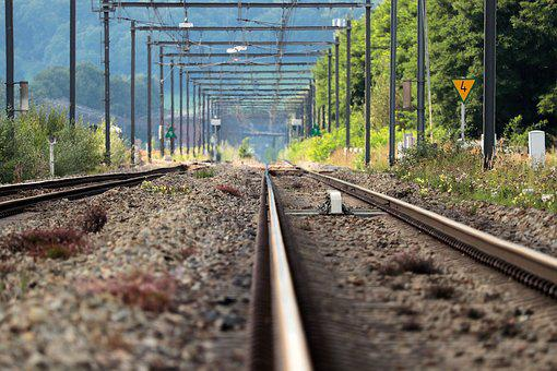 Railway Rails, Railway Tracks, Gleise, Autumn, Rail