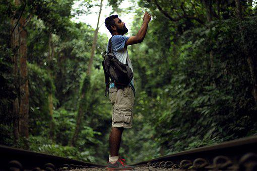 Jungle, Man, Half Pants, Nature, People, Forest, Person
