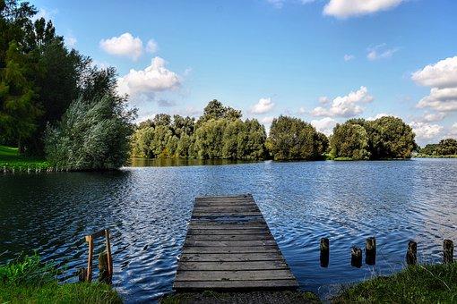 Salzgitter, Lake, Salzgittersee, Web, Nature, Landscape