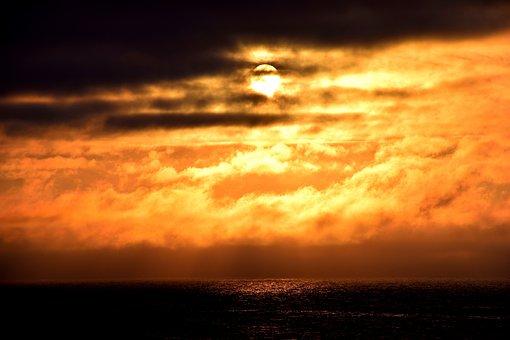 Sunset, Norway, Nordland, Lofoten, Gimsoya, Rest