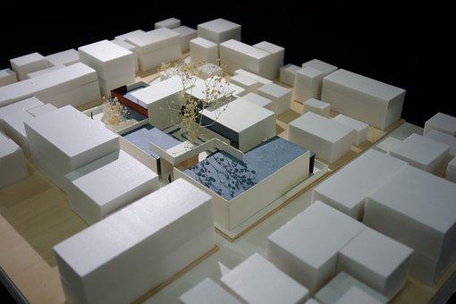 Building, Model, Plus The Surrounding Environment