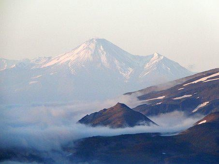 Mirage, Mountain Range, Mountains, Volcanoes, Ridge