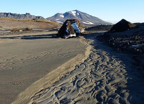 Mountains, Volcanoes, Mountain Plateau, Tundra, Autumn
