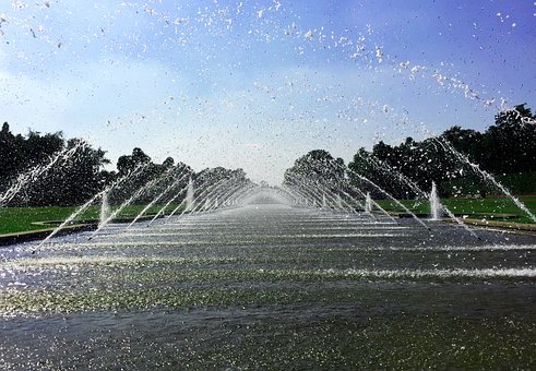 Fountain, Water, Water Feature, Sparkling, Nature, Park