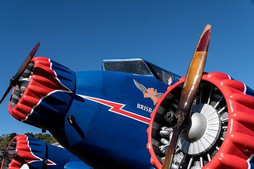 Propeller, Plane, Engine, Aircraft, Replica, Aviation