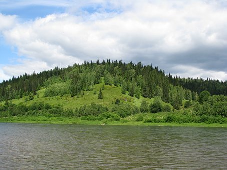 The Chusovaya River, Perm Krai, Sky, Russia, Silence