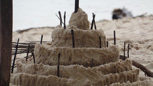 Sand Castle, Send, Beach