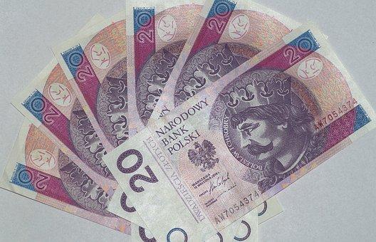 Money, Euro Banknotes, Polish Zloty, Savings, Pay, Save