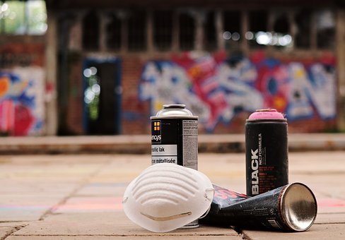 Spray Cans, Graffiti, Sprayer, Mask, Sprayer Utensils