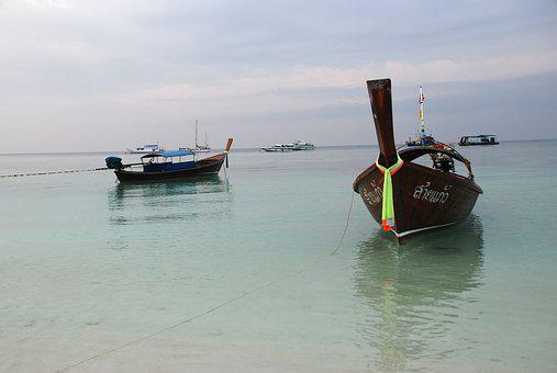 Ship, Long-tail Boat, Thailand, The South Of Thailand