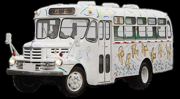 Isolated, Isuzu, Buses, Transport And Traffic, Oldtimer