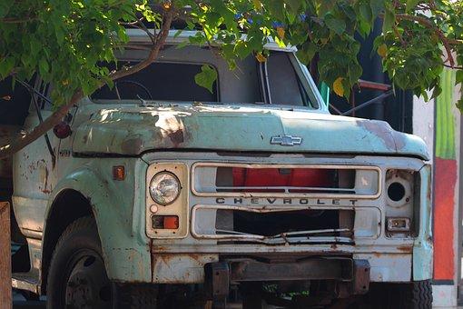 Old Car, Chevvy, Transport