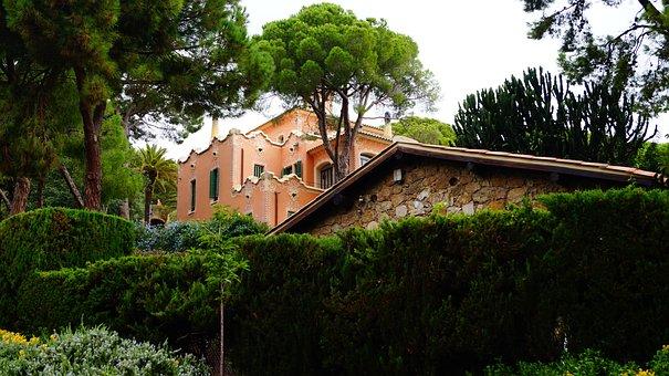 Spain, Park, House, Trees, Travel, Green