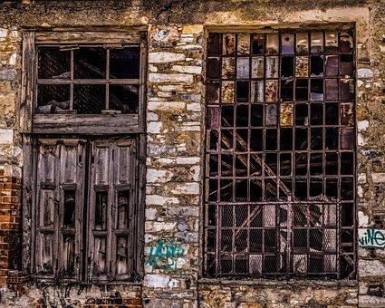 Windows, Factory, Decay, Grunge, Abandoned, Broken