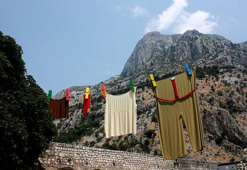 Budva, Mountains, Laundry, Kent, Mandal