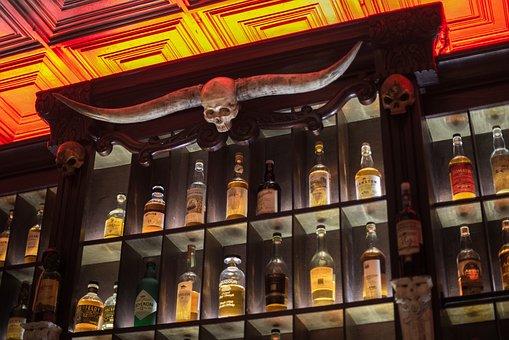 Liquor, Cabinet, Drink, Alcohol, Bar, Cafe, Glass, Wine