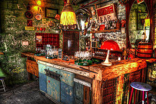Bar, Budapest, Ruin, Hdr, City, Urban, Hungary, Travel