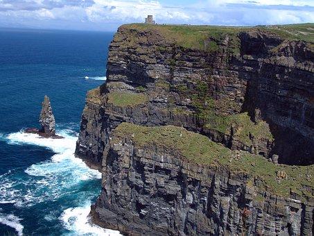 Ireland, Cliffs Of Moher Munster, Cliffs, Nature, Coast