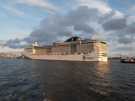 Cruise Ship, Hamburg, Elbe, Cruise, Ship Travel, Travel