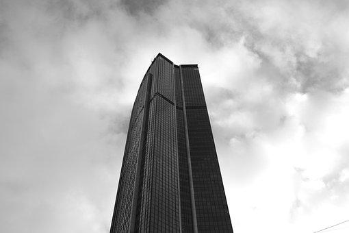 Montparnasse Tower, Paris, France, Photo Black White