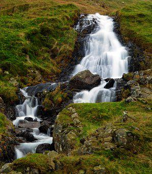 Waterfall, Skye, Island, Scotland, Isle, Nature