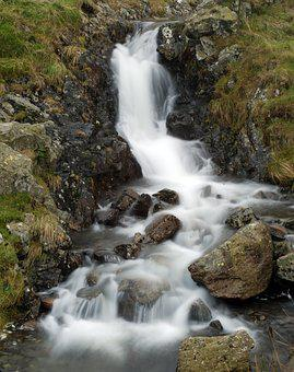 Waterfall, Skye, Highlands, Scotland, Isle, Nature