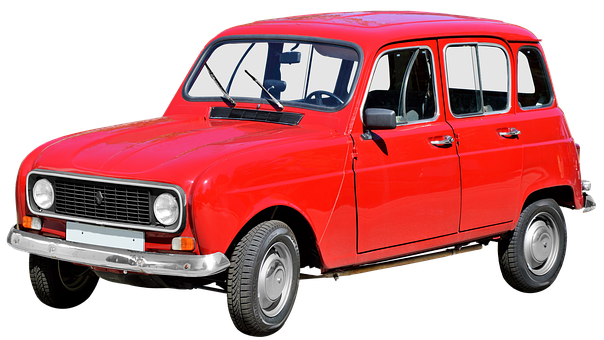 Isolated, Renault R4, Classic, Oldtimer, Automotive