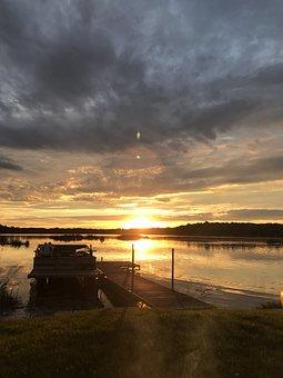 Minnesota Sunset, Sunset, Water, Lake, Minnesota