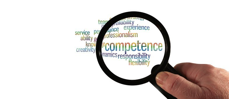 Competence, Experience, Hand, Magnifying Glass