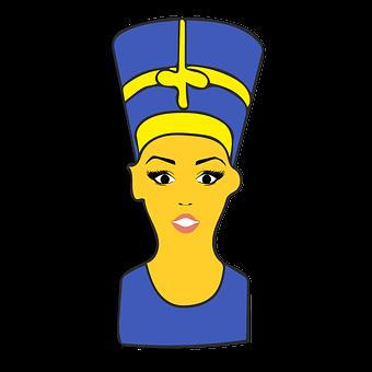 Nefertiti, Emoji, Clipart, Sticker, Shocked