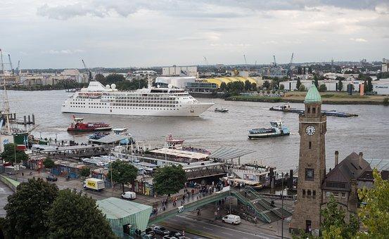 Hamburg, Landungsbrücken, Port, Elbe, Hanseatic City