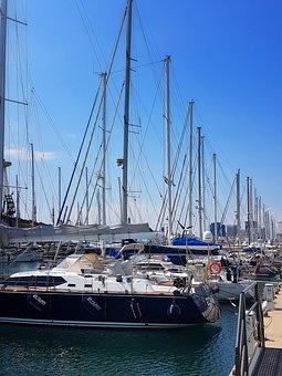 Boat, Sailing, Sailboat, Foremast, Port, Genoa, Italy